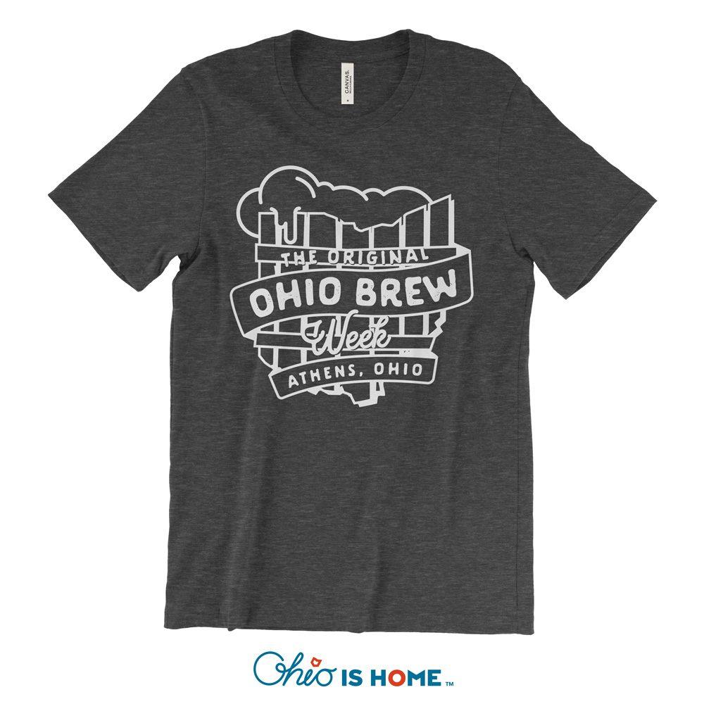 'The Original Ohio Brew Week' black unisex single-color t-shirt