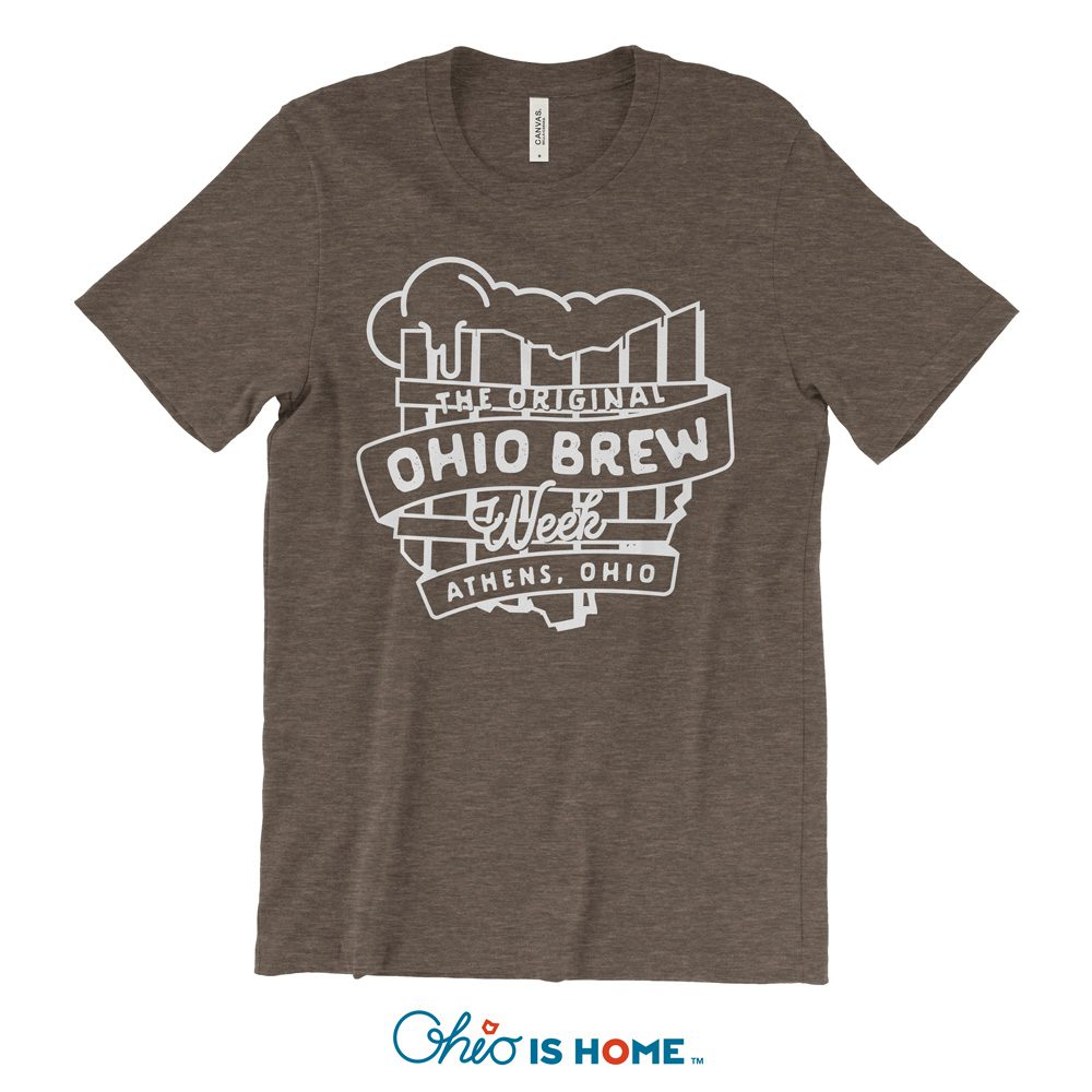 'The Original Ohio Brew Week' brown unisex single-color t-shirt