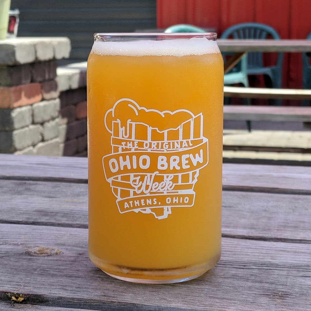 'The Original Ohio Brew Week' can glass