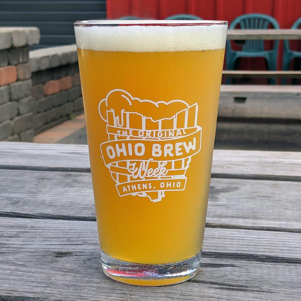 'The Original Ohio Brew Week' pint glass