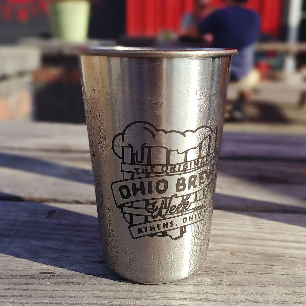 'The Original Ohio Brew Week' stainless steel pint